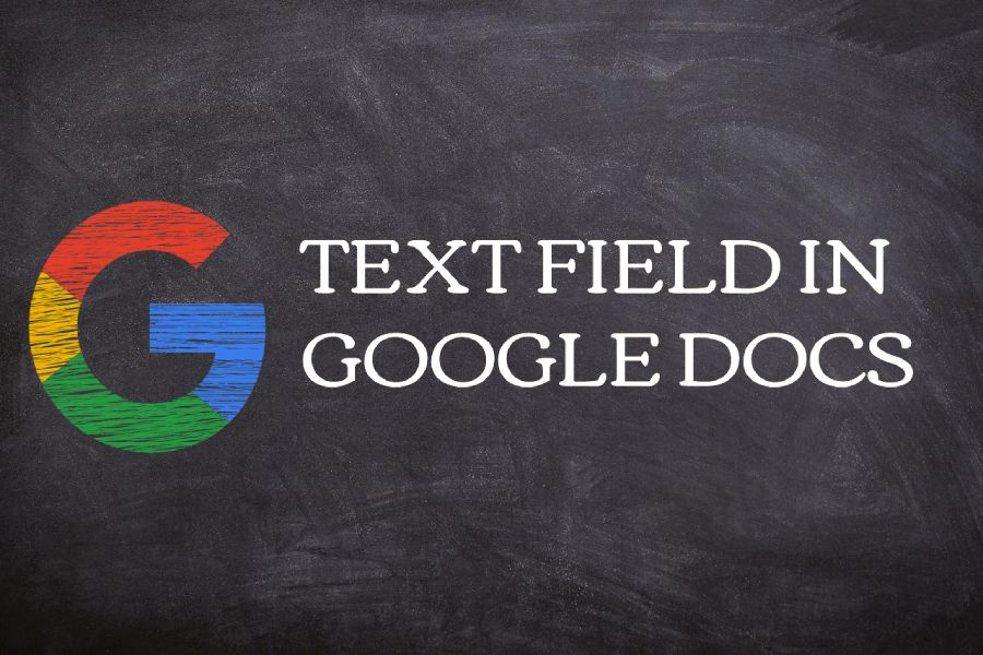 How to insert a text field in Google Docs